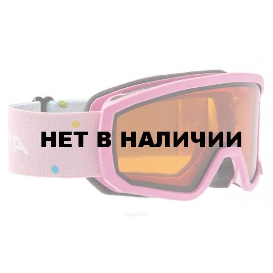Очки горнолыжные Alpina SCARABEO JR. DH rose/white (Polka) (б/р:ONE SIZE)