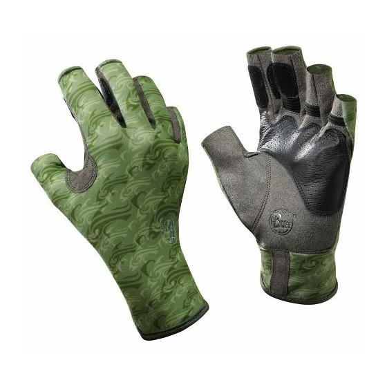 Перчатки рыболовные BUFF Pro Series Angler Gloves Skoolin Sage (св. зеленый)