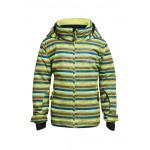 Куртка горнолыжная MAIER 2017-18 Stoormy Kids green/blue allover