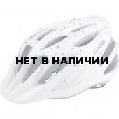 Велошлем Alpina 2018 FB Jr. 2.0 Flash white polka dots