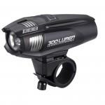 Фонарь передний BBB Strike 300 lumen LED black rechargealbe lithium ion 2300mAh battery black (BLS-71)