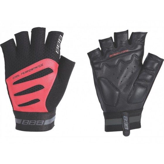 Перчатки велосипедные BBB Equipe black/red (BBW-48)