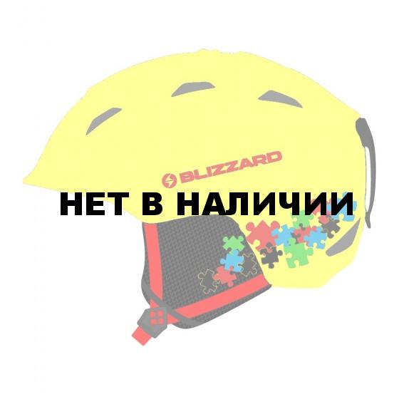 Зимний Шлем Blizzard 2016-17 Demon neon yellow/puzzles