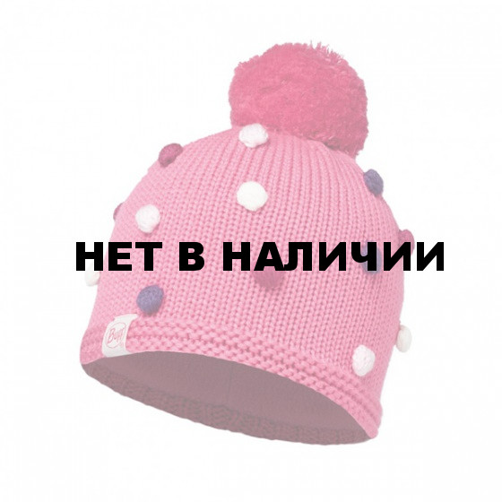 Шапка BUFF 2016-17 KNITTED KIDS COLLECTION CHILD KNITTED & POLAR HAT BUFF ODELL IBIS ROSE