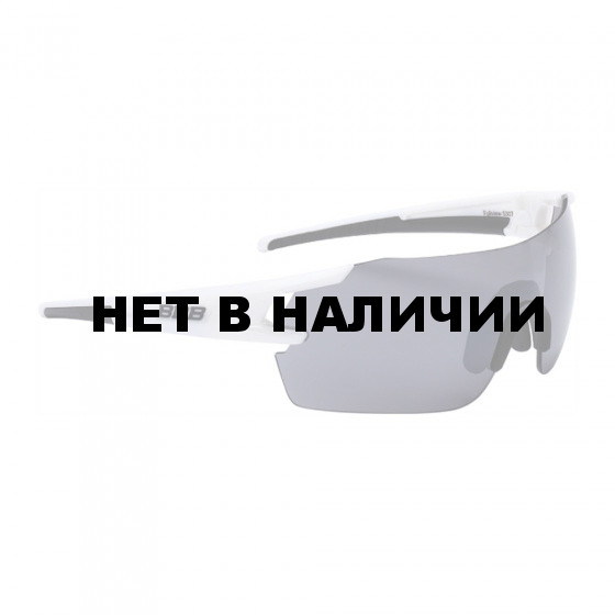 Очки солнцезащитные BBB 2018 FullView PC Smoke flash mirror lens белый, черный
