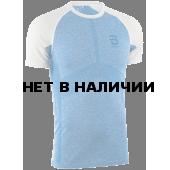 Футболка беговая Bjorn Daehlie 2018 Short Sleeve Light Seamless Blue