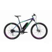 Велосипед Welt 2018 Rockfall 1.0 E-drive matt violet/green/blue