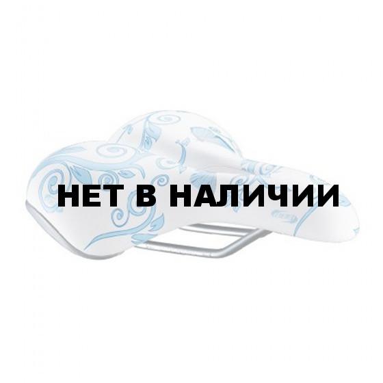 Седло BBB saddle sports DesignShape butterfly blue pink anatomic (BSD-48)