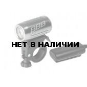 Фонарь BBB HighPower 3W LED с адаптером art.429.831 silver (BLS-63)