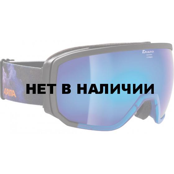 Очки горнолыжные Alpina BIG HORN MM black/blue/orange/print (supernova) (б/р:ONE SIZE)