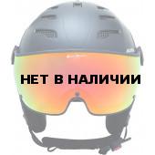 Зимний шлем с визором Alpina 2018-19 JUMP JV QVMM black matt