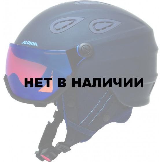 Зимний шлем с визором Alpina 2018-19 GRAP Visor HM nightblue-denim matt