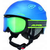 Зимний Шлем Alpina GRAP 2.0 blue-neon-yellow