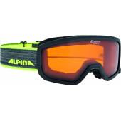 Очки горнолыжные Alpina SCARABEO JR. DH black-neon DH zyl. S2 / DH zyl. S2 (7-14)