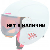 Зимний шлем с визором Alpina 2018-19 CARAT LE VISOR HM white-flamingo matt