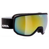 Очки горнолыжные Alpina SCARABEO MM sph. black matt MM gold sph. S3 / MM gold sph. S3 (L50)