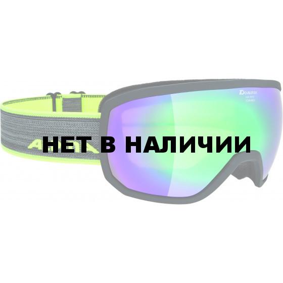 Очки горнолыжные Alpina SCARABEO MM sph. black matt MM emerald sph. S3 / MM emerald sph. S3 (L50)