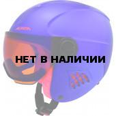 Зимний шлем с визором Alpina 2018-19 CARAT LE VISOR HM royal-purple matt
