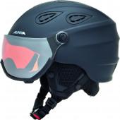 Зимний шлем с визором Alpina 2018-19 GRAP Visor HM black matt
