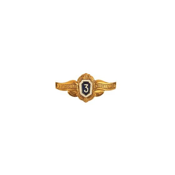 Нагрудный знак Классность рядового состава 3 металл