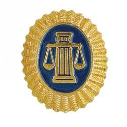 Кокарда Служба судебных приставов на пилотку металл