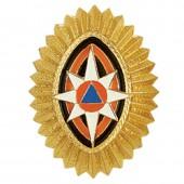 Кокарда МЧС на пилотку металл