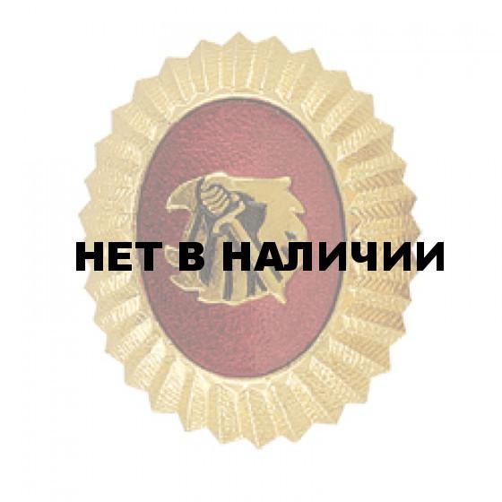 Кокарда Охранник желтая металл