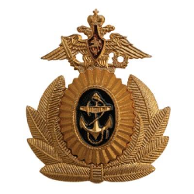 Кокарда ВМФ офицерская на фуражку металл