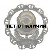 Нагрудный знак Водолаз с цепью металл