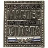 Нагрудный знак Россия Мастер спорта Кандидат металл