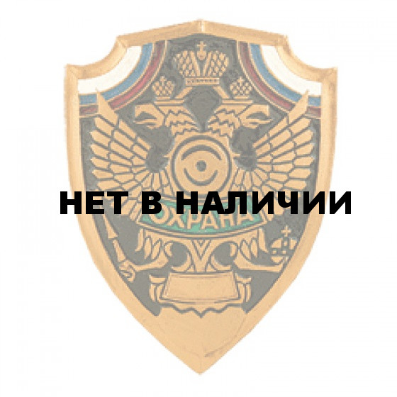 Нагрудный знак Охрана щит металл