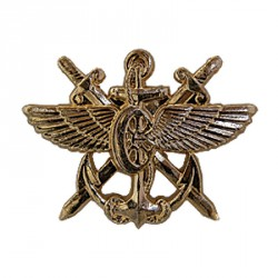 Эмблема петличная Служба военных сообщений нового образца повседневная металл