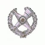 Эмблема петличная Военнотопографическая служба полевая металл