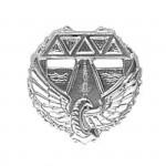 Эмблема петличная Дорожные войска полевая металл