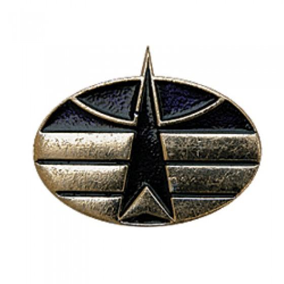 Эмблема петличная Космические войска нового образца повседневная