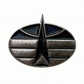 Эмблема петличная Космические войска нового образца полевая металл