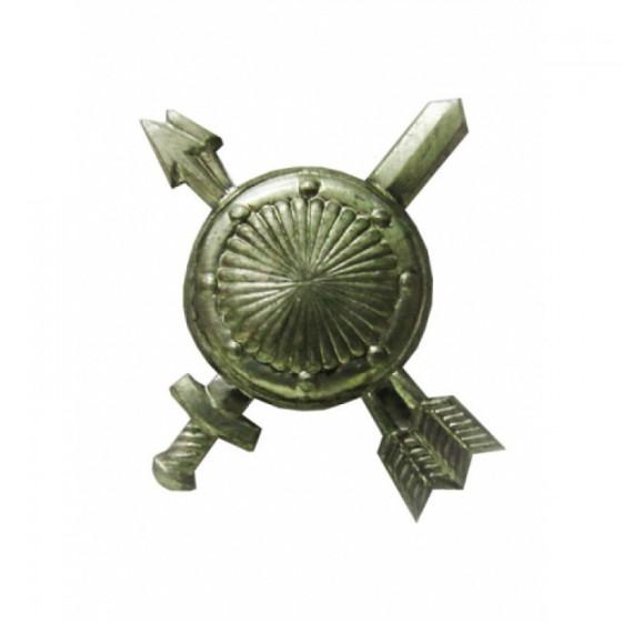 Эмблема петличная РВСН нового образца полевая металл