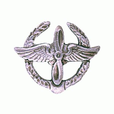 Эмблема петличная ВВС полевая металл