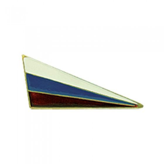 Знак на берет Флаг РФ уголок металл