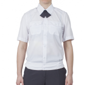 Блуза ПОЛИЦИЯ женская белая с коротким рукавом на резинке