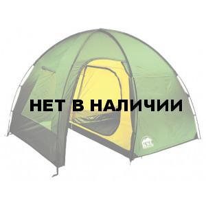 Трехместная высокая кемпинговая палатка большим тамбуром KSL Rover 3 зеленый