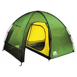 Четырехместная высокая палатка с большим тамбуром KSL Rover 4 зеленый