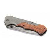 Нож складной туристический деревянная ручка СЛЕДОПЫТ