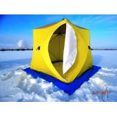 Палатка зимняя КУБ-3 трехслойная (дышащий верх) СТЭК