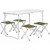 Набор мебели (СТАЛЬ), стол + 4 табурета Green (Т-FS-21407+21124-SG) Helios