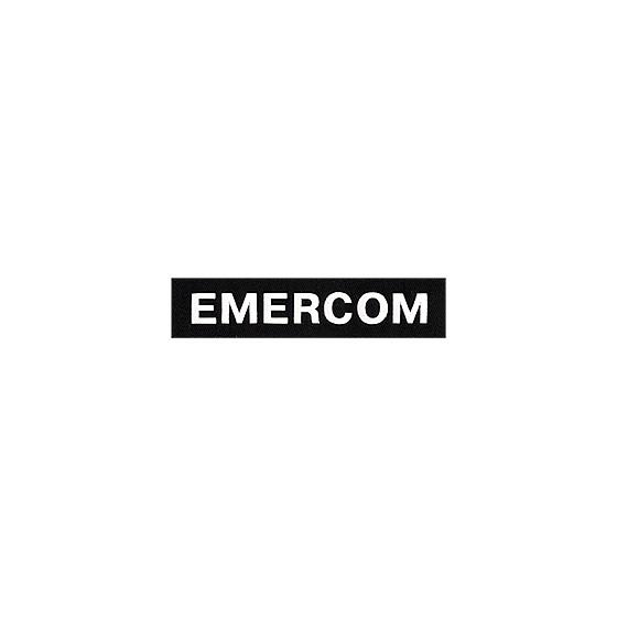 Нашивка на грудь Emercom черный фон белый шрифт вышивка шелк