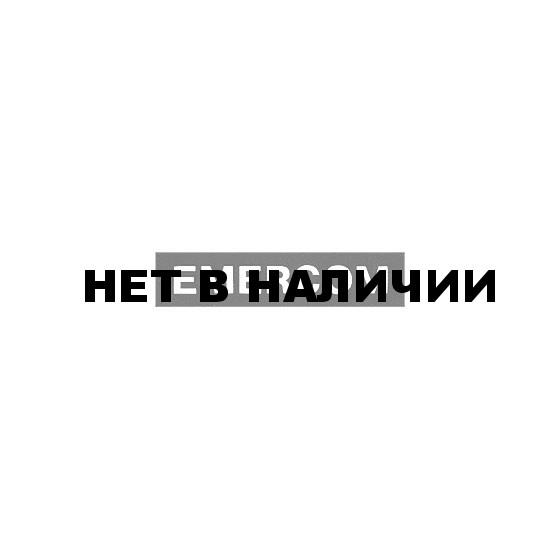 Нашивка на грудь Emercom черный фон белый шрифт пластик