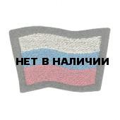 Нашивка на берет Флаг РФ волнистый пластик