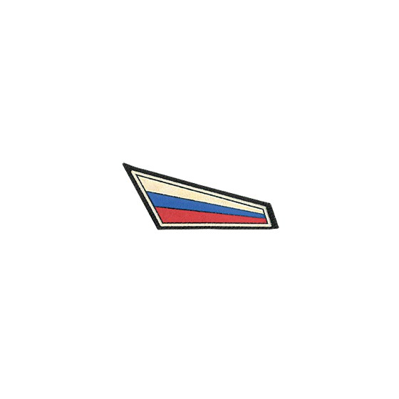 Нашивка на берет Флаг уголок пластик