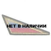 Нашивка на берет Флаг РФ треугольный большой вышивка люрекс